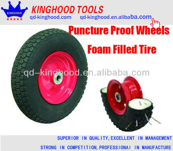 Puncture Proof Semi Pneumatic Wheels Foam Filled Tire