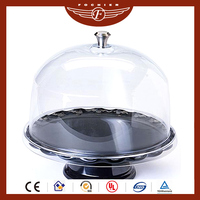 acrylic cake dome cover stand for cake dome display stand