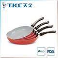 Ceramic Fry Pan with s/s Plate Mounted Handle