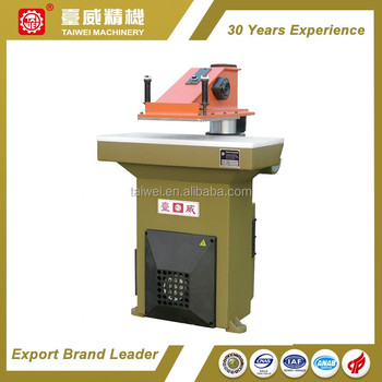 Hydraulic Swing Arm shoe Cutting Machine/clicking press taiwei/atom style clicker