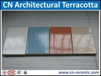Coverings of exterior wall terracotta paneling