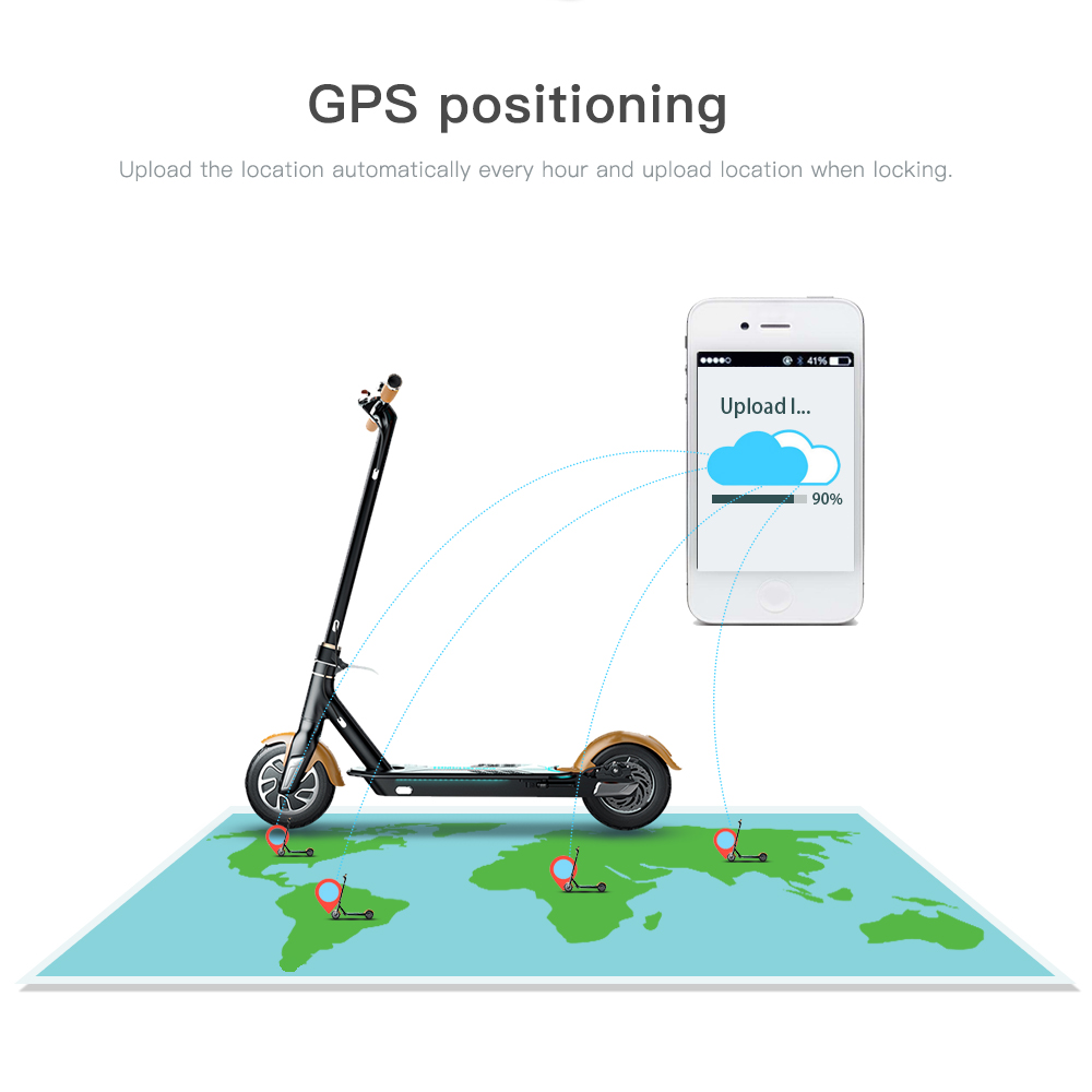 2G/3G/4G GPS sharing electric scooter with app function and GPS Tracking/scooter electric locks for scan to ride