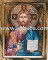 Icon painting of Jesus Christ Pantokrator Pantepoptis