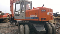 Japan made, used Hitachi wheel Excavator EX100WD Hot sale in UAE. Low worked housr