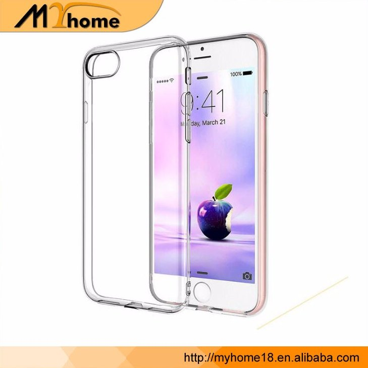 Hot New 2016 Products For iPhone 7 Case, Ultra Thin Clear Crystal Transparent TPU Case Cover For iPhone 7