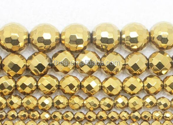 Cheap Natural rainbow hematite electroplated hematite stone beads making fashion jewelry