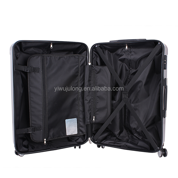 PC+ABS Women and men for business trip 20 24 28 inch black travel luggage