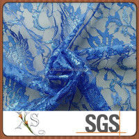 China Gold Supplier Mesh Embroidered Lace Fabric
