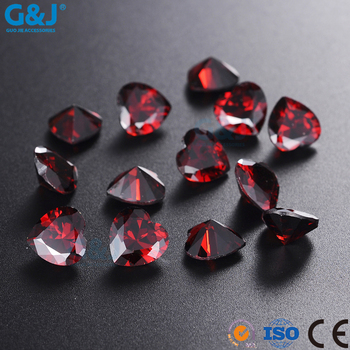 guojie brand Factory Directory Heart Shape Hair Accessories Glass Rhinestones