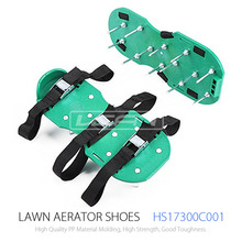 6 Adjustable Straps with Metal Buckles Garden Lawn Aerator Spike Shoes