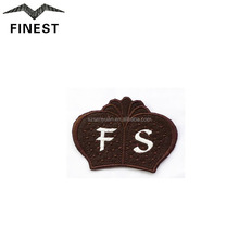 Custom letter embroidery patch neck embroidery design