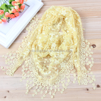 New Stylish Elegant Lace Rose Floral Scarves stitching Scarf for Women's Lady candy colors