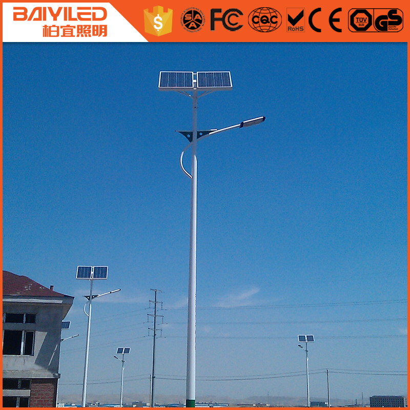 round shape china supplier pole all in one led solar bulb street light
