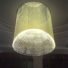 chandelier crystal lighting side emitting plastic optical fiber