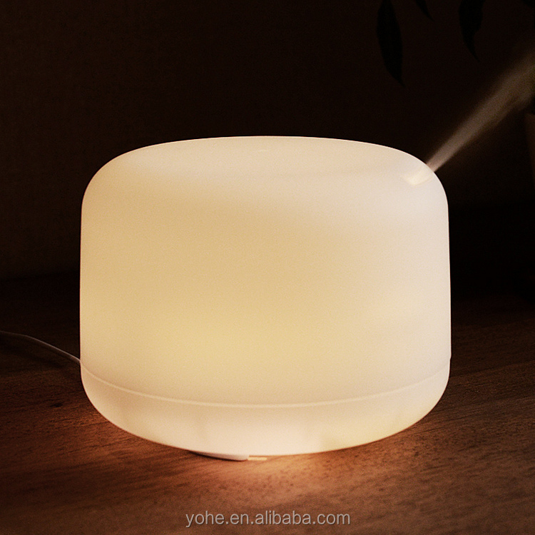 spa ultrasonic aromatherapy diffuser humidifier glass electric aroma lamps with led light
