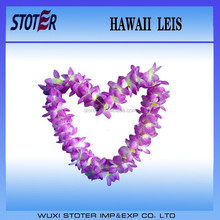 colourful hawaii flower lei set