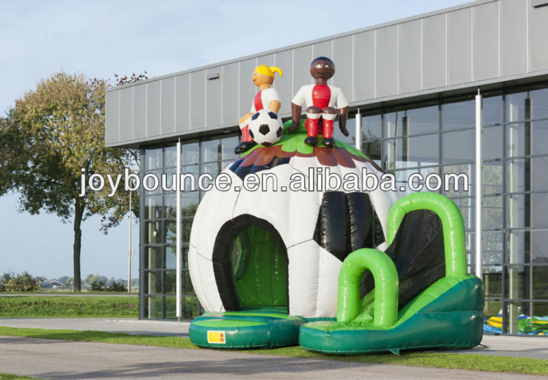 small bouncy castle slide,inflatable football bounce house,inflatable soccer bounce house