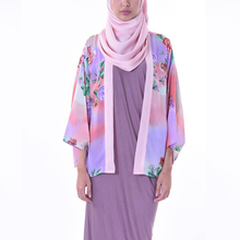 New Style Floral Kimono Cardigan Abaya Blouse For Muslim Women