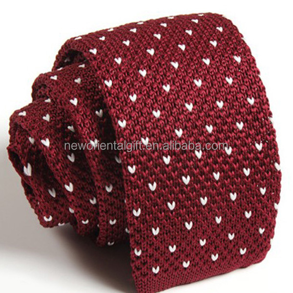 Polka Dot Silk Knitted Ties
