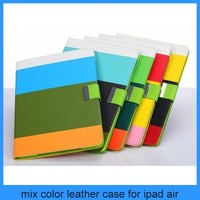 Hybrid PU Leather Wallet Flip Pouch Stand Case Cover For iPad air ipad 5