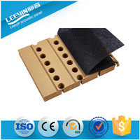 melamine high quality wooden grooved acoustic panel for outdoor absorption