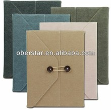 jean canvas case cover for ipad2/ business for ipad cover case / folder shaped protective case cover