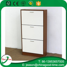 modern design plywood walmart shoe cabinet with 3 drawers