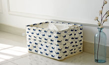 Whale Dirty Clothing Storage Basket Laundry Basket Canvas Drawstring