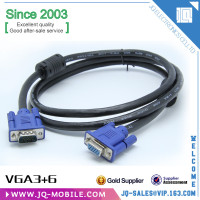 Chinese factory transmission range and support resolution 15pin male-female VGA 3+6 cable for Monitor Computer