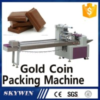 Horizontal Flow Chocolate Gold Coin Packing Machine Factory Price