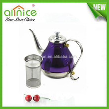 middle east tea pot/arab tea kettle/stainless steel tea kettle with filter