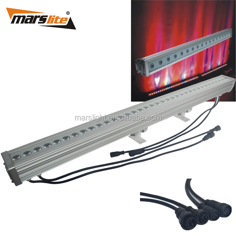 Good quality cheap 24x 3W RGB 3in1 LED strip wall washer light stage bar