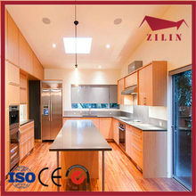 2015 Zilin design beech wood kitchen cabinet