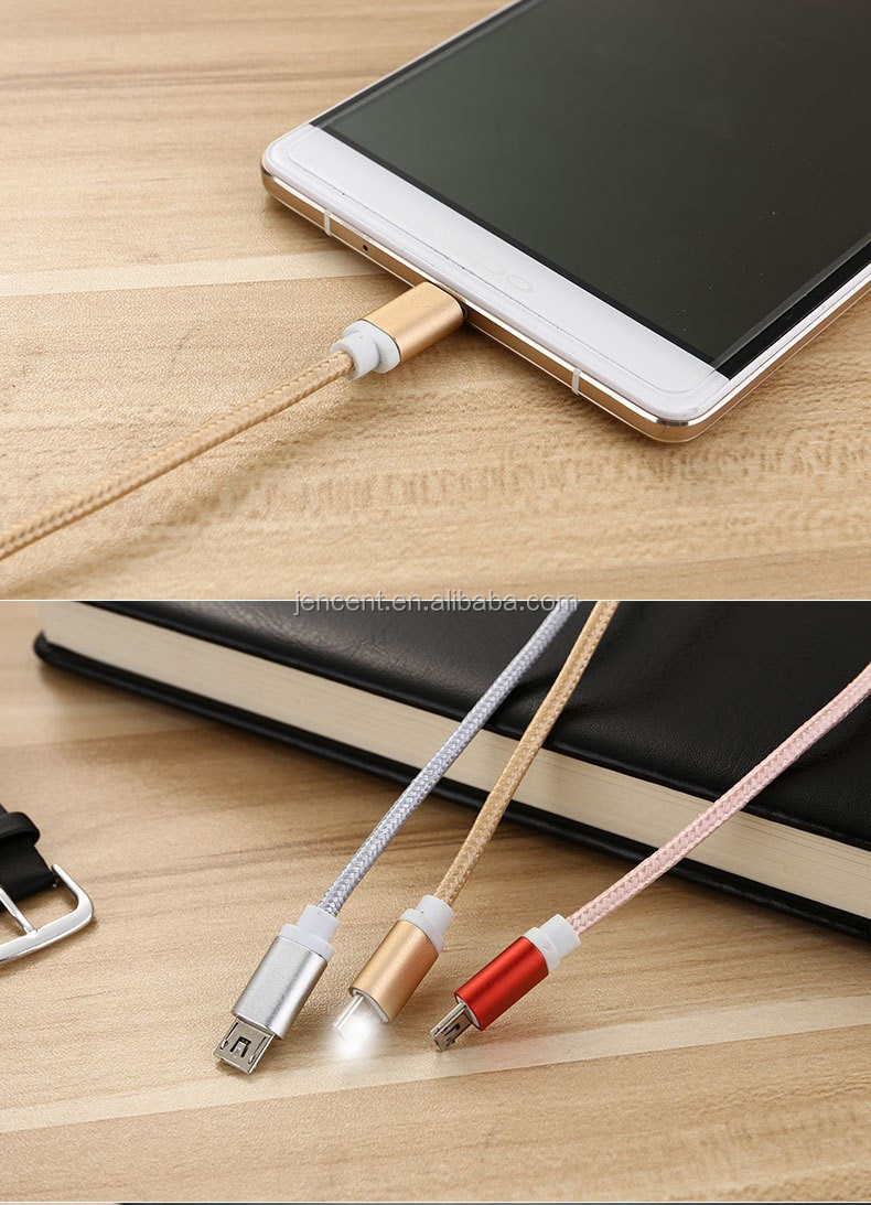 2016 new arrival new design real 2in1 data cable in one port head for iphone and micro android phone