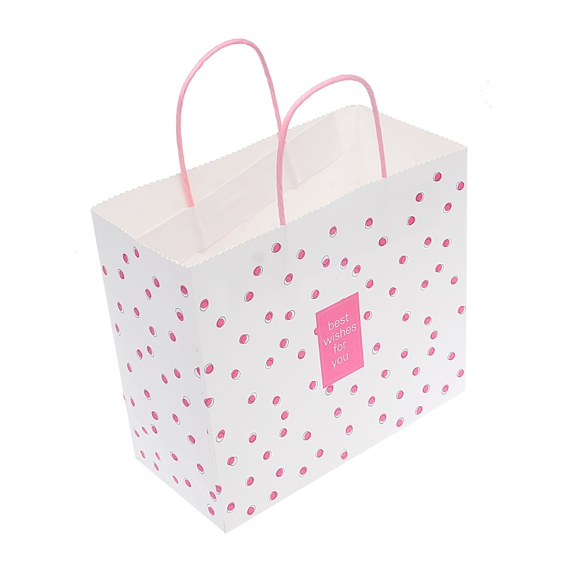 Hot sale machine made cheap colorful printed kraft paper shopping bag