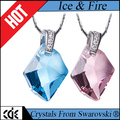 CDE Guangzhou China crystals from Swarovski jewelry factory bulk wholesale 2017 fashion simple design pendant necklace for girls