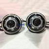 7 inches LED Headlight/HID starry headlights with Devil Demon eye and led Angel halo for JEEP JK