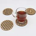 Wholesale handmade mini wooden coaster for drink