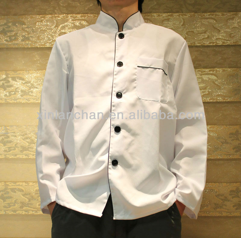 oem custom made high quality cotton chef uniform manufacture in Guangzhou