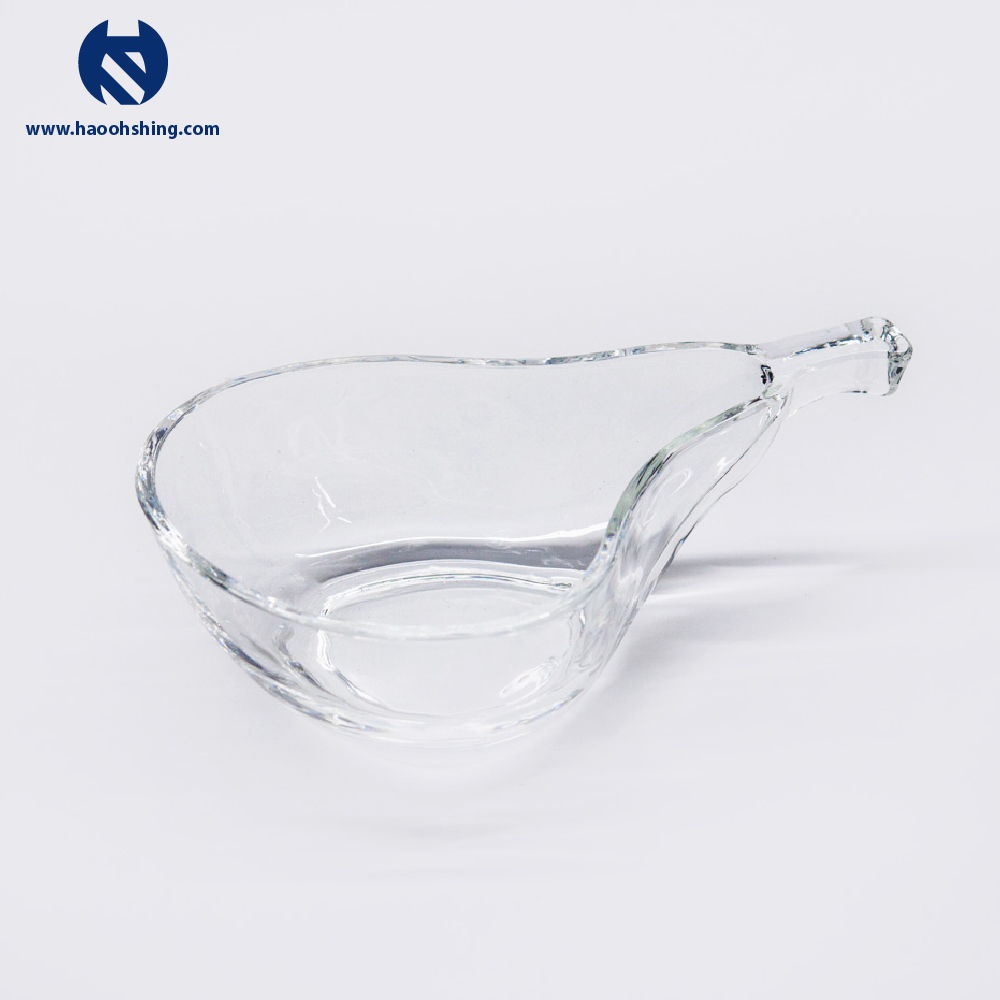 Decorative Apple Shaped Glass Plate For Sugar Storage