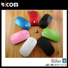 Top Selling Optical Wireless mouse 2.4G receiver ultra thin cordless mouse 10M working distance for computer laptop