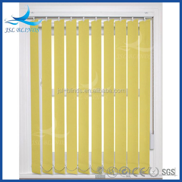 Different colors vertical blind fabric rolls