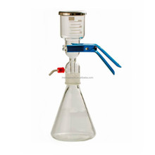 Lab Solvent filtration apparatus with membrane filter and vacuum pump