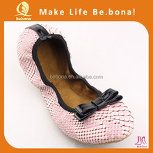 2015 new bottom soft surface of the small bow Ballet shoes Comfortable women flat shoes