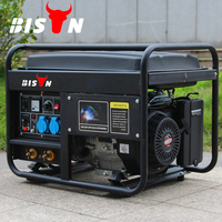 BISON CHINA TaiZhou HONDA 3 Phase 5kw Diesel Welded Generator Set With Quick Connecting