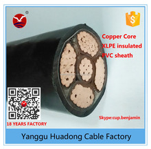 4cores+1core free halogen flame retardant lower smoke power cable