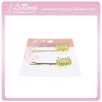 2015 Beautiful alloy clear bobby pins with crystal