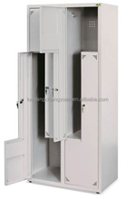 high quality Hotel staff locker / Z shape L shape steel locker / sports locker