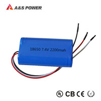 2S1P 2200mAh 18650 7.4v Li-ion Battery Pack