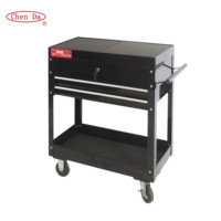 High quality metal 2 drawers tool cart/tool trolley with central lock